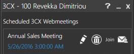 3cx webmeeting schedule